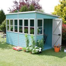 10x6 sun pent pent shiplap wooden shed shiplap timber garden