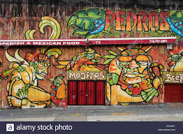 mexican restaurant stock photos mexican restaurant stock images wall painting mexican restaurant dumbo brooklyn nyc usa stock image