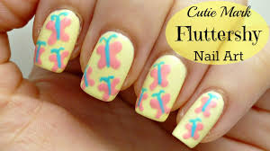 cutie mark fluttershy butterfly nail art design youtube