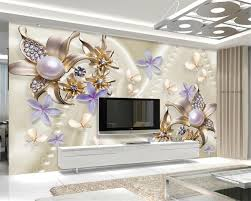 beibehang wall paper home decor european style pearl diamond