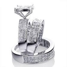 wedding rings trio sets for cheap wedding ring trio sets wedding corners