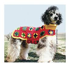 crochet pattern for dog coat crochet dog sweater pattern granny square dog coat crochet