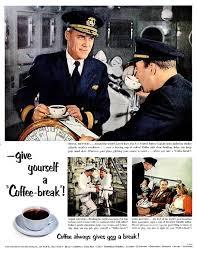 decoration bureau york 1953 pan coffee bureau and telechron electric clock print