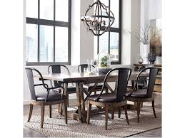 pulaski furniture weston loft 7 piece trestle table and metal