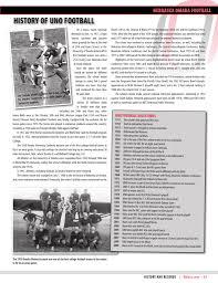 history of uno football university of nebraska at omaha