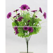 plastic flowers china high quality artificial plastic flower single silk
