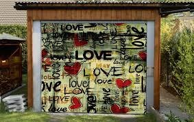 3d love graffiti 3 garage door murals wall print decal wall deco