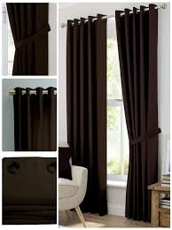 Brown Blackout Curtains Blackout Room Darkening Curtains Window Panel Drapes