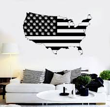 american map vinyl wall sticker smoking weed area wall decals home american map vinyl wall sticker smoking weed area wall decals home decor art design united states map y 819 in wall stickers from home garden on