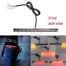 led light strip turn signal turn tail brake universal motorcycle light strip stop signal 33led