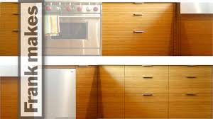 kitchen remodel part 12 bamboo door and drawer fronts youtube