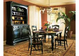 Black Oval Dining Room Table - ivan smith indigo creek black round dining table w one 20