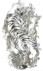 traditional japanese tiger tattoo design