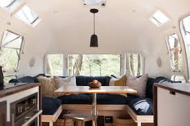 Airstream Custom Interiors Vintage Airstream Custom Built For Modern Living On The Go