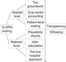 assessing drg cost accounting with respect to resource allocation