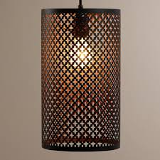 crafted of cutout iron with a moroccan inspired lattice design
