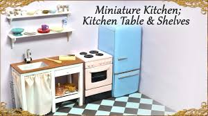 Kitchen Table Miniature Doll Kitchen Table W Sink U0026 Shelves Wood U0026 Polymer