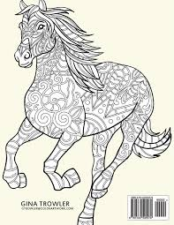 amazon horse coloring book coloring stress relief patterns