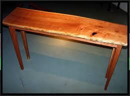 Cherry Wood Sofa Table by Custom Live Edge Cherry Hall Sofa Table By Rockledge Farm