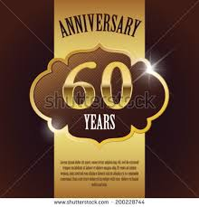 60 years anniversary 60 year anniversary golden design stock vector 200228744