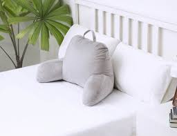 tv bed pillow bed backrest pillow with pockets fluffy bed rest pillow bed rest