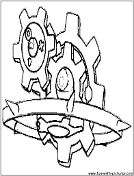 steel pokemon coloring pages free printable colouring pages