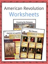 american revolution worksheets facts for