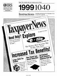 us internal revenue service i1040 1999 irs tax forms income