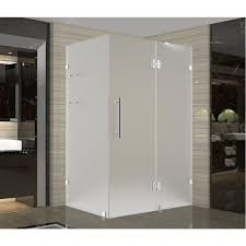 Satin Glass Shower Door by Frosted Shower Doors Showers The Home Depot