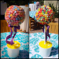 Candy Topiary Centerpieces - culinary crafting and traveling adventures obsessed with