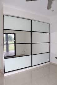 Sliding Glass Mirror Closet Doors Sliding Wardrobe Doors Composite 4 Panel Doors White Glass