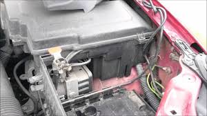 citroen c5 battery removal youtube