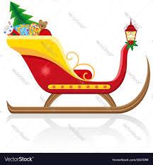christmas santa sleigh 01 royalty free vector image