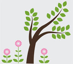 cute trees tree wall design wall decals u0026 stickers cute tree with flowers