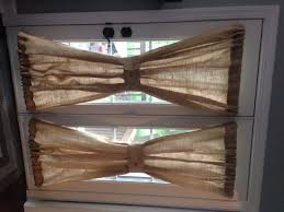 Burlap Window Treatments Burlap Sheers French Door Drapes Burlap Curtains By Misshettie