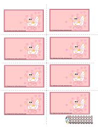 free printable pink baby shower labels