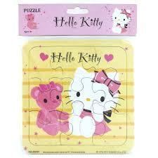 puzzle small kitty lovely bear mainan puzzle kitty