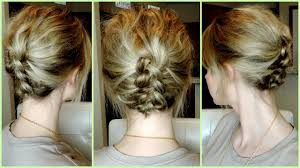 step by step braid short hair easy braided updos for short hair hairstyle pop