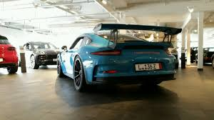 porsche blue gt3 porsche 911 gt3 rs miami blue at porsche center bergen in norway