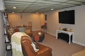 exposed ceiling basement basements ideas