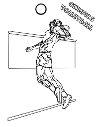 volleyball olympics sports coloring page download u0026 print online