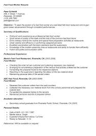 Food Service Worker Resume Sample by Food Service Worker Resume Examples Food Service Waitress Waiter