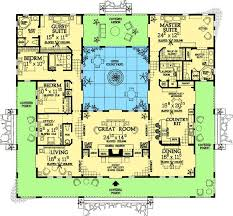 house plans courtyard floor plan plans swimming shaped designs single courtyard indoor