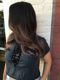 28 very dark brown hair with brown and dark caramel balayage