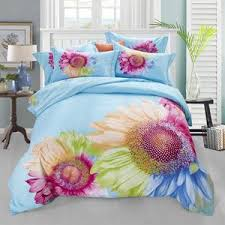 Printed Duvet Covers Sunflower Printed Duvet Cover Set 4pcs U2013 Classy Sheets