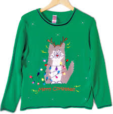 sweaters that light up electrocuted led light up cat sweater
