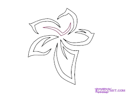tattoo flower drawings simple flower designs how to draw a tribal flower tattoo step 5