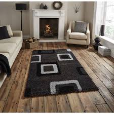 Black Modern Rug Decorating Free Standing Drum L With Wooden Floor Also Grey