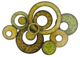 pacific home metal wall art circle design in green amazon co uk