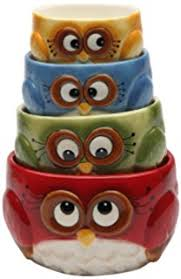 owl kitchen canisters 4 whimsical ceramic owl canister metal tray